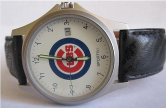 VINTAGE CHICAGO CUBS MLB BASEBALL JAPAN MENS WATCH - 2