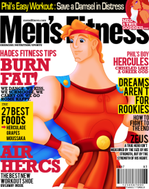 disney Hercules mens fitness