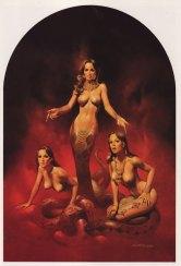 snakewomen boris vallejo 1980