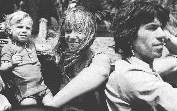 anita, keith Richards, baby Anita Pallenberg and their son Marlon