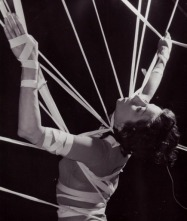 dreams tied up woman in ribbon straps