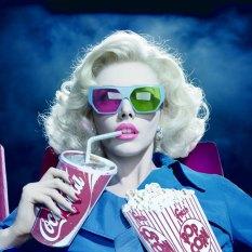 glasses 3 D fake movie