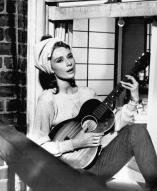 music lovers audrey hepburn guitar boho