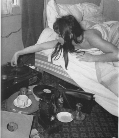 music lovers chick in bed