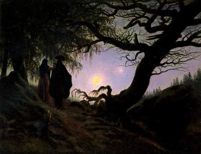 Caspar David Friedrich - Man and Woman Contemplate The Moon