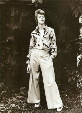 David Bowie Flower Print