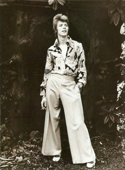 David Bowie Flower Print