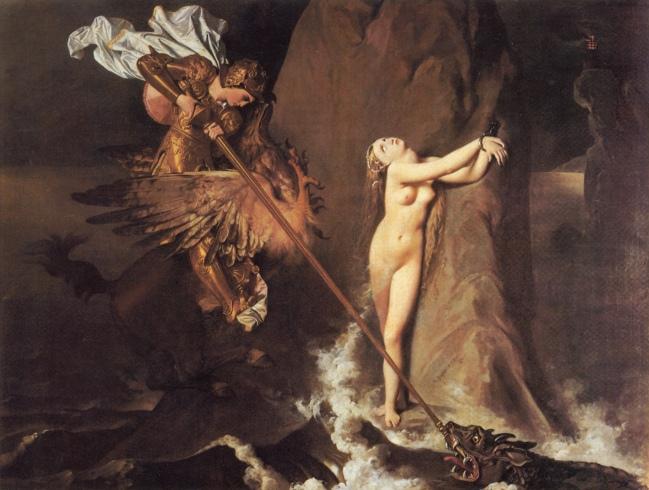 Jean Auguste Dominique Ingres_Roger DeliveringAngelica