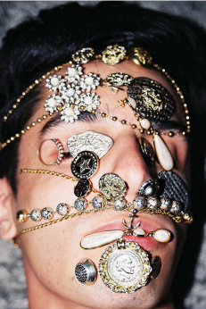 Jewelry on the face