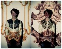 Leitmotiv Scrolls Swirls Flowers and Gold