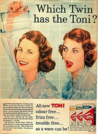 twin toni hair ad