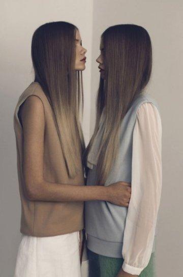 twins brunette