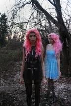 Twins pink hair