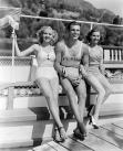 Betty Grable, Buster Crabbe and Eleanore Whitney