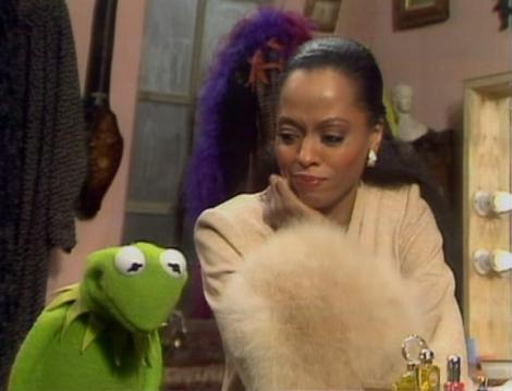 Diana Ross and Kermit