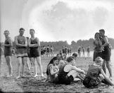Group of Friends at Beach Circa. 1920s