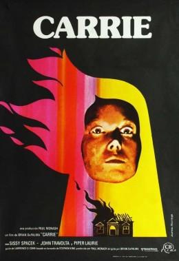 Rare Vintage 1976 Carrie Poster Dir. Brian De Palma Starring Sissy Spacek