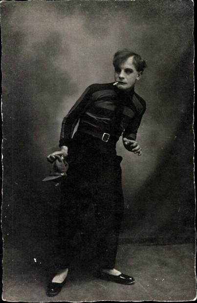 German Theater Villain (actor unknown), 1920