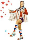 red white and blue vintage liberace man fringe