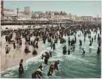 the beach at atlantic city - 1902