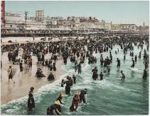 the beach at atlantic city - 1902