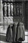 Catholic black and white apostle statues veils