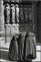 Catholic black and white apostle statues veils