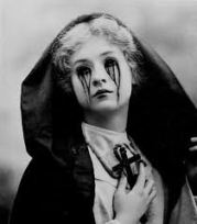 Catholic girl tears blood vintage