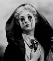 Catholic girl tears blood vintage
