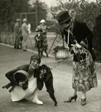 eof tennis- Suzanne Lenglen celebrates winning the World Tennis Championship, 1926