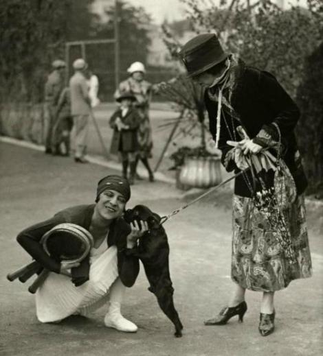 eof tennis- Suzanne Lenglen celebrates winning the World Tennis Championship, 1926