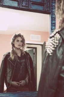 Teen witch blonde leather coat