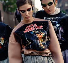Teen witch metal influence Kendra Spears in Dolce&Gabbana