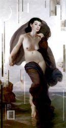Karine Percheron-Daniels audrey-hepburn-nude-portrait-painting
