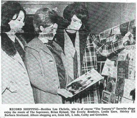 the tammys- vintage newspaper clipping