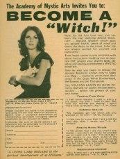 Witch retro mystic ad
