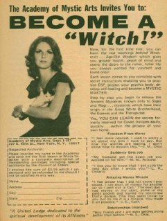Witch retro mystic ad