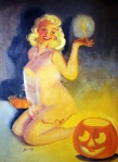 EOF- Pin Up Jack O Lantern