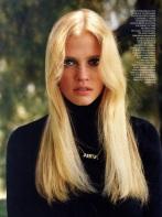 EOF SWEATER GIRLS- Vogue UK Lara Stone 1970S Turtleneck