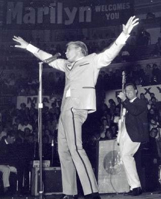 BILLY FURY on stage performing