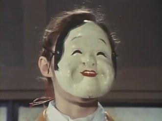 Masked little girl