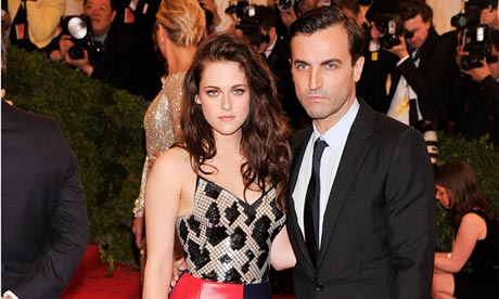 Actress Kristen Stewart and designer Nicolas Ghesquiere
