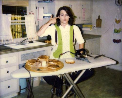 buddies johnny depp in kitchen