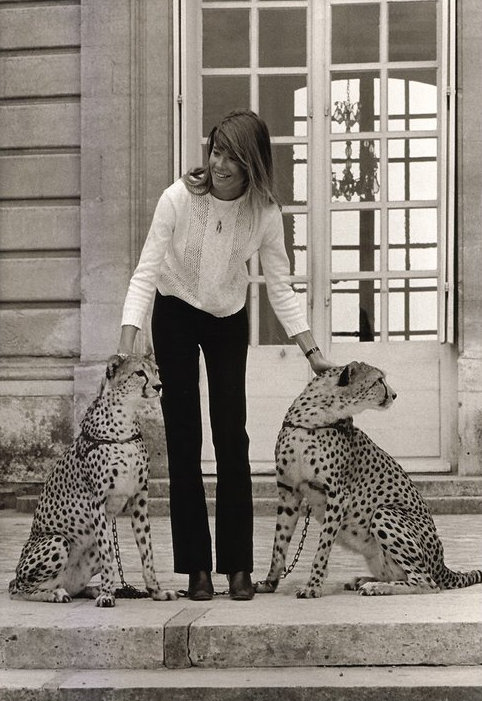 eof style idol- francoise hardy and leopards