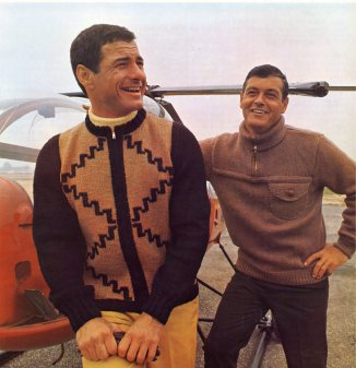 Men in Sweaters Fly Helicopters