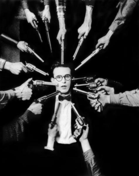 gunpoint black and white Harold Lloyd