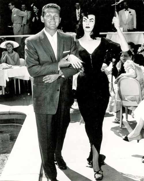 Mac Crim (Kim Novak's boyfriend ) and Vampira c. 1950's