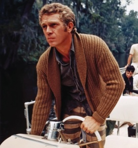 Steve McQueen Takes His Sweater Everywhere