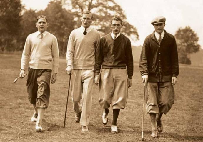 Men Wear Sweaters to Golf