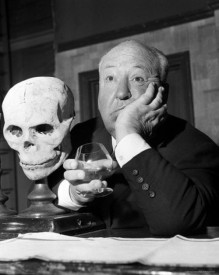 Alfred Hitchcock- Black and White with Skull